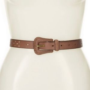 Frye Perforated Western Belt Size L NWT